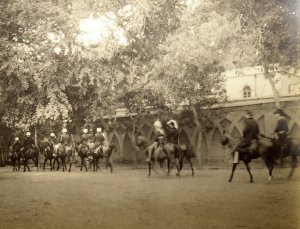 Mounted escort.