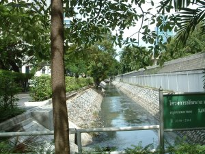 The klong along the west side of the compound, 2003.