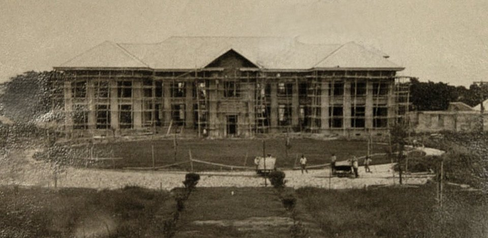 Residence under construction, 1925.