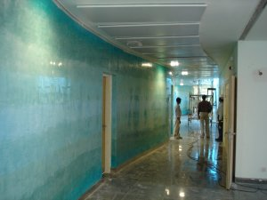 Office corridor, nearing completion, 2005.