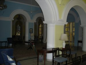 View across hall from dining to drawing room, 2005.