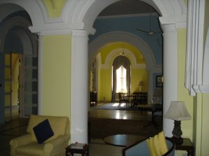 View across hall from drawing room to dining room, 2005.