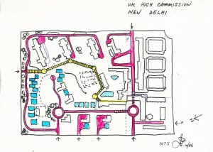 John Partridge's sketch for opening up the green lung, 1986.