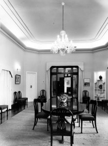 The dining room, 1965.