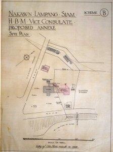 Nakawn Lampang site plan, c. 1928.