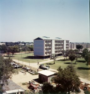 Staff block, just completed, 1957.