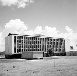 Offices, from the south-west , with library, 1959.