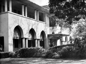 Entrance front, from south-west, 1964.