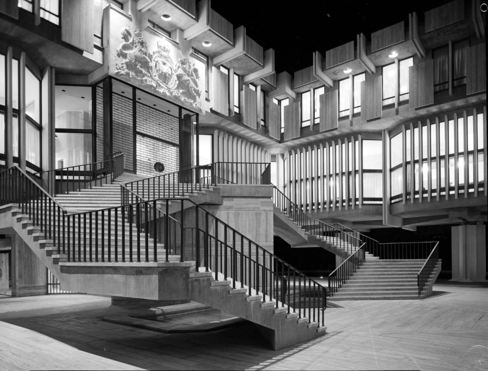 The grand stair, at night, 1971.