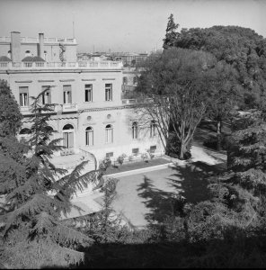 Garden front of the villa, 1958.