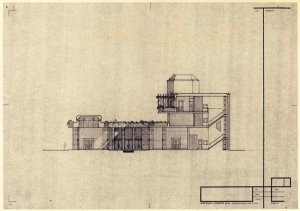 Section of the proposed residence, 1971.