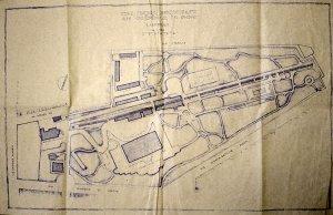 Siteplan, after enlargement of the villa, c.1940.