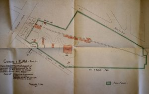 Siteplan of Wolkonsky estate, before enlargement of the villa, 1932.