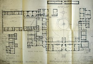 Floor plans of Wild's Mission building, drawn 1941.