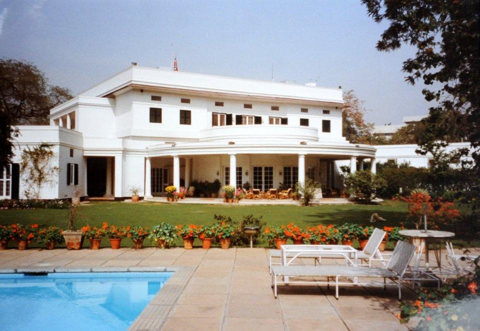 The residence, across the garden, 1992.