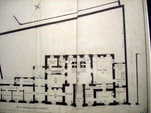 Ground floor plan of legation house, 1914.