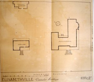 Siteplan of residence and offices, 1920.