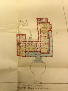 Floor plan of residence, 1920.