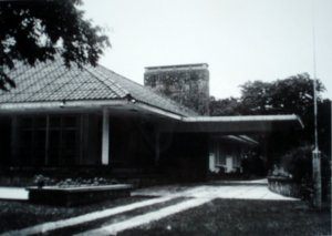 Entrance front of residence, c.1972.