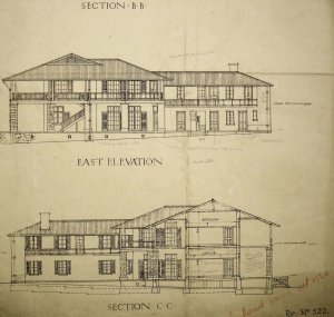 Drawn elevations for new consulate, 1914.