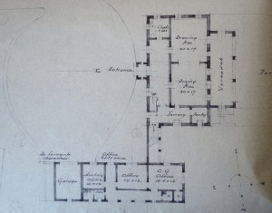 Ground floor plan of proposed new consulate, 1935.
