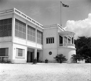 Entrance front of ambassador's residence, 1962.