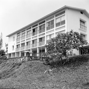 Office/residence building from the beach, 1964.