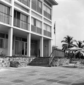 Residence private terrace, 1964.