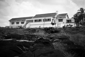 Vice-consul's house, viewed from the beach, 1952.