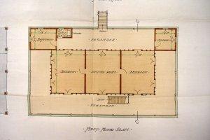 Prposed main consulate floor plan, 1906.