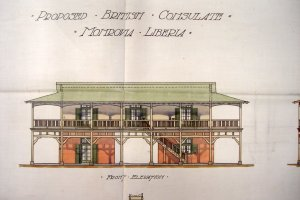 Proposed front elevation of consulate, 1906.