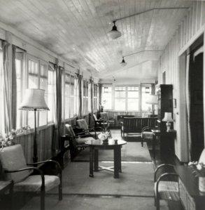 Consulate veranda, 1953.