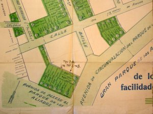 Identification plan of site bought, 1923.