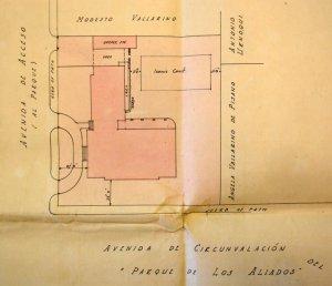 Siteplan of Office of Works design, 1925.