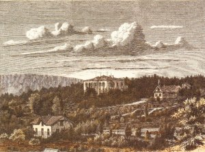 Engraving of Villa Frognaes, 1865.