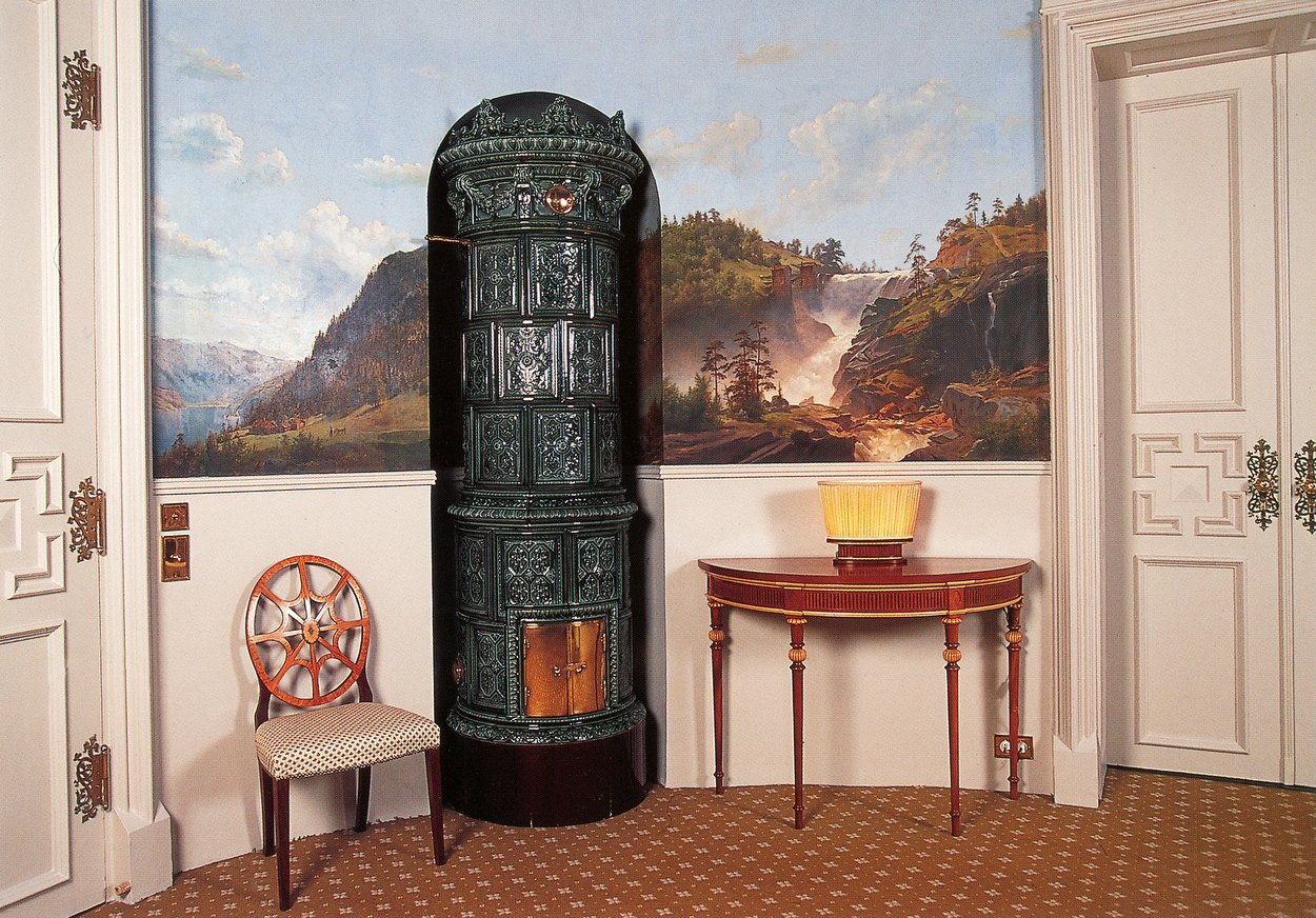 oval office paintings. Oval Room, With One Of Two Swedish Stoves, And Four Eckersberg Paintings Office