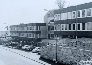 Offices, from the north-west, 1960s.