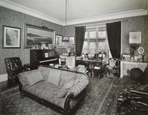The study (originally the dining room), pre-purchase.