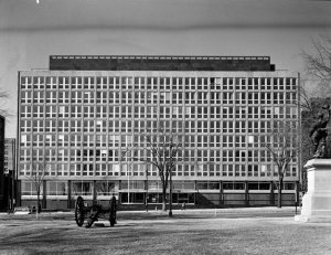 New offices, front view from Elgin Street, 1964.