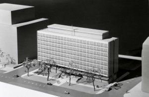 Model of proposed offices, 1961.