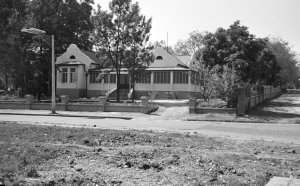 Residence entrance front, 1951.