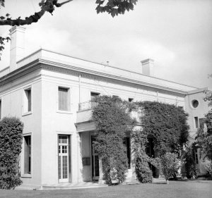 Garden front, from north-west, 1953.
