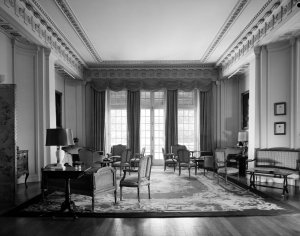 The original dining room, being used as a drawing room , 1965.