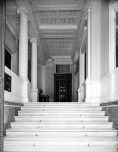 Steps to entrance hall, 1965.