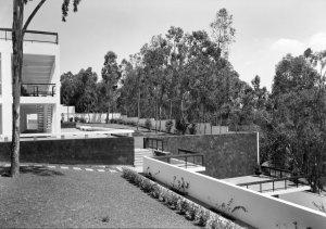 View across garden, 1966.