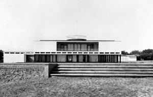 Residence garden front, 1964.