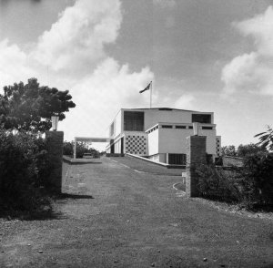 Approach to the residence, 1964.