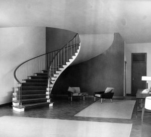 Hall and staircase, 1967.