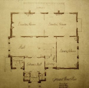Ground floor plan of legation house, 1912.
