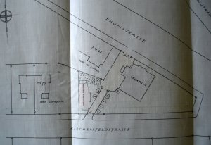 Siteplan of legation house, 1913.
